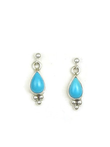 Sleeping Beauty Turquoise Post Earrings by Shirley Henry
