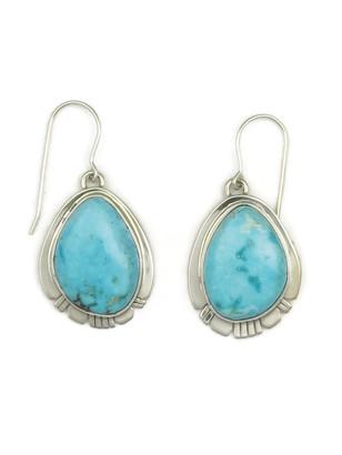 Kingman Turquoise Earrings by Phillip Sanchez