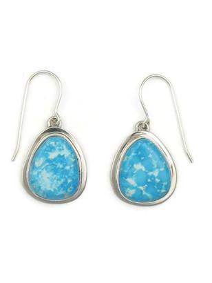 Kingman Turquoise Earrings by Lyle Piaso (ER3452)