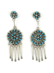 Turquoise Petit Point Cluster Earrings by Zuni Tricia Leekity
