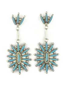 Turquoise Needle Point Cluster Earrings by Zuni Colin Lalio