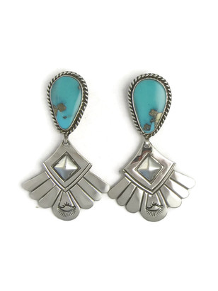 Kingman Turquoise Earrings by Fritson Toledo