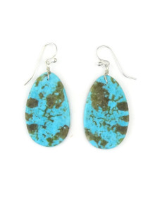 Turquoise Slab Earrings by Ronald Chavez (ER3479)