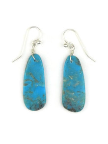 Turquoise Slab Earrings by Ronald Chavez (ER3480)