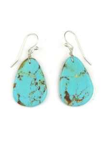 Turquoise Slab Earrings by Ronald Chavez (ER3481)