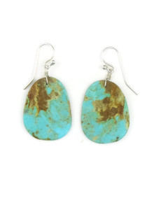 Turquoise Slab Earrings by Ronald Chavez (ER3482)