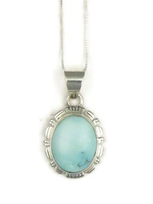 Natural Dry Creek Turquoise Pendant by Lydia Yazzie (PD3803)