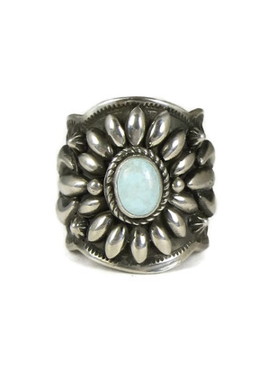 Dry Creek Turquoise Wide Ring Size 9 by Darryl Becenti
