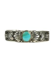 Kingman Turquoise Bracelet by Tsosie White (BR4733)