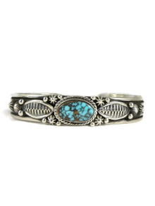 Spider Web Kingman Turquoise Bracelet by Happy Piaso