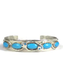 Sleeping Beauty Turquoise Snake Bracelet by Effie Calavaza