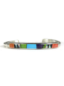 Multi Gemstone Inlay Bracelet by Ervin Hoskie