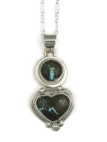 Sierra Nevada Boulder Turquoise Heart Pendant by Lucy Valencia (PD3347)