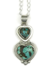 Sierra Nevada Boulder Turquoise Heart Pendant by Lucy Valencia (PD3348)