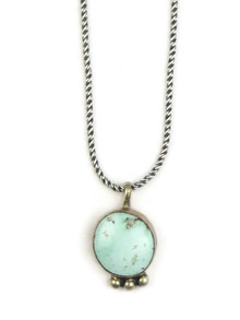 Natural Dry Creek Turquoise Pendant by Geneva Apachito (PD3352)
