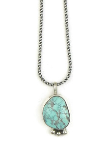 Natural Dry Creek Turquoise Pendant by Geneva Apachito (PD3353)