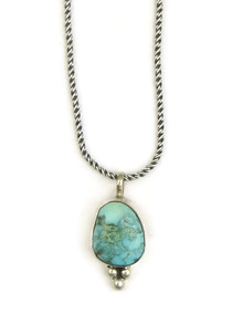 Natural Dry Creek Turquoise Pendant by Geneva Apachito (PD3354)