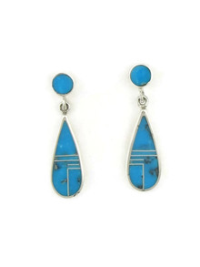 Kingman Turquoise Inlay Earrings