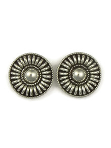 Sterling Silver Round Earrings by Thomas Charley