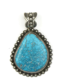 Natural Webbed Kingman Turquoise Pendant by Happy Piaso
