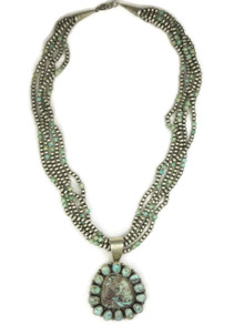 Natural Dry Creek Turquoise Necklace by Shirley Henry