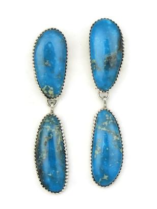Kingman Turquoise Earrings by Garrison Boyd (ER3885)