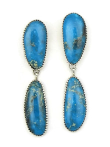 Kingman Turquoise Earrings by Garrison Boyd (ER3885)