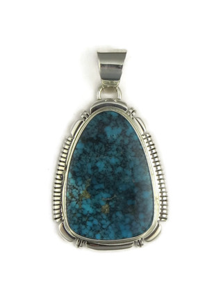 Black Webbed Kingman Turquoise Pendant by Thomas Francisco