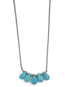 Turquoise Tab Necklace (NK3350)