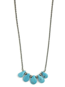Turquoise Tab Necklace (NK3451)