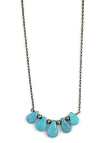 Turquoise Tab Necklace (NK3452)