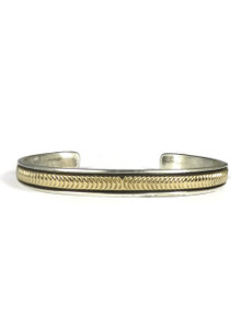14k Gold & Sterling Silver Bracelet by Bruce Morgan (BR4231)