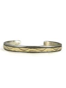 14k Gold & Sterling Silver Bracelet by Bruce Morgan (BR4232)