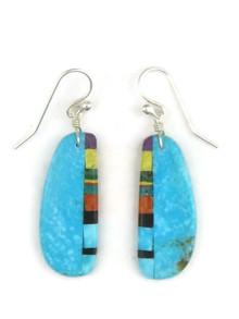 Turquoise & Gemstone Inlay Earrings (ER3898)