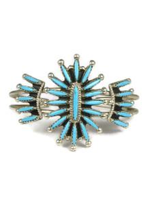 Turquoise Needle Point Bracelet by Zuni Gerald Etsate
