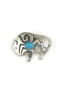 Sleeping Beauty Turquoise Buffalo Pin