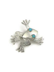 Sleeping Beauty Turquoise Frog Pin