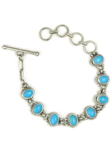 Sleeping Beauty Turquoise Link Bracelet by Margaret Platero