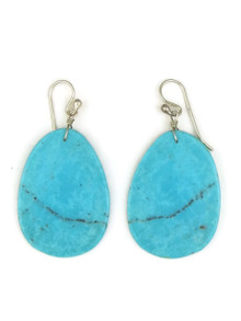 Turquoise Slab Earrings by Ronald Chavez (ER3502)