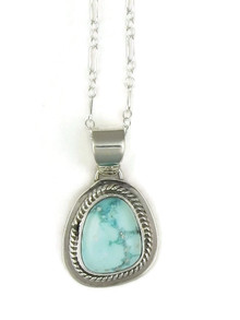 White Water Turquoise Pendant by Lyle Piaso (PD3809)