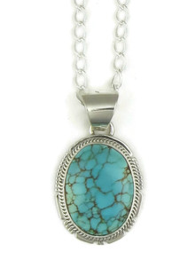 Number 8 Turquoise Pendant by Kim Yazzie