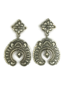 Silver Naja Earrings by Darryl Becenti
