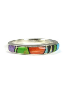 Multi Gemstone Inlay Ring Size 6 (RG3819-S6)