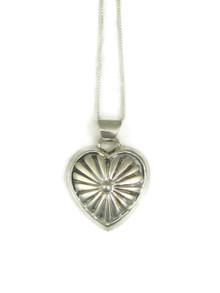 Silver Heart Pendant by Ervin Hoskie