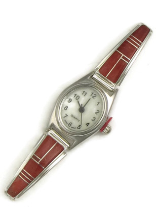 Mediterranean Coral Inlay Watch (WTH826)