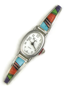 Multi Gemstone Inlay Watch (WTH828)