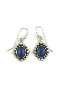 Silver Lapis Earrings by Elgin Tom