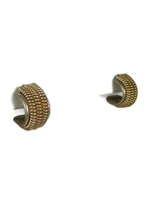 12k Gold & Sterling Silver Hoop Earrings