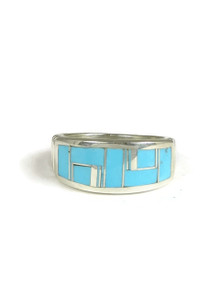 Turquoise Inlay Ring Size 9 1/2 (RG3821)