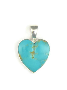 Kingman Turquoise Heart Pendant by Bernise Chavez (PD3853)